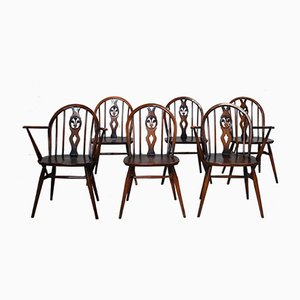371 & 371A Windsor Dining Chairs by Lucian Ercolani for Ercol, 1960s, Set of 6