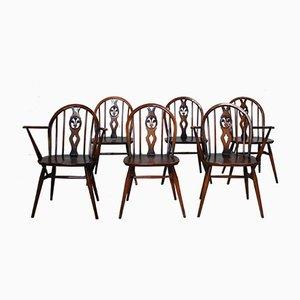Chaises de Salon 371 & 371A Windsor par Lucian Ercolani pour Ercol, 1960s, Set de 6