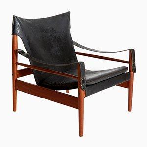 Vintage Antilope Safari Armlehnstuhl von Hans Olsen für M Viskadalens Möbelindustri