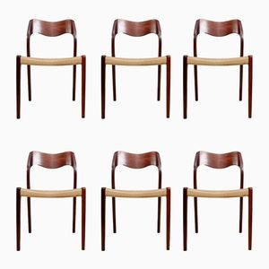 Mid-Century Model 71 Rosewood Dining Chairs by Niels Møller, Set of 6