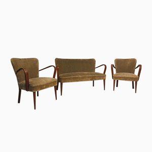 Sitzgruppe, 1940er, 3er Set