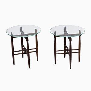 Tables d'Appoint en Palissandre par Poul Hundevad pour Vamdrup, 1950s, Set de 2