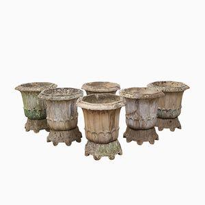 Vasi da fiori antichi di Doulton & Co Ltd Lambeth, set di 6