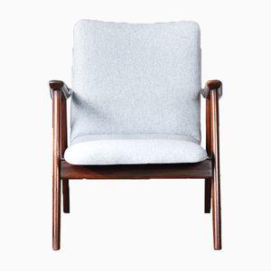 Mid-Century Armlehnstuhl mit Niedriger Rückenlehne von Louis van Teeffelen für Webe