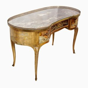 Antique French Chinoiserie Kidney Writing Desk, 1860s