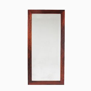 Danish Rectangular Palisander Mirror, 1960s
