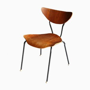 Mid-Century Stuhl aus Teak Schichtholz, 1950er