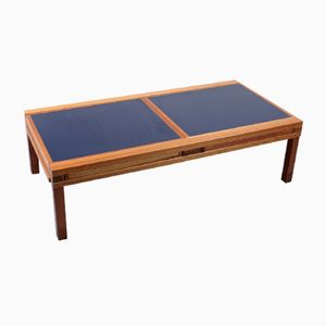 Vintage Blue And White Iroko Modular Coffee Table By Bernard Vuarnesson For  Bellato