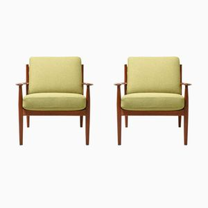Vintage Easy Chairs by Grete Jalk for France & Søn, Set of 2