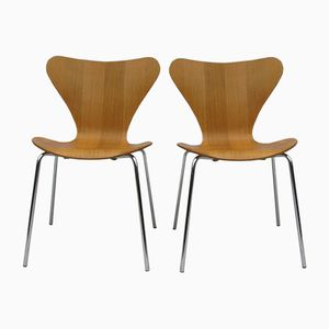 3107 Stühle von Arne Jacobsen für Fritz Hansen, 1974, 2er Set