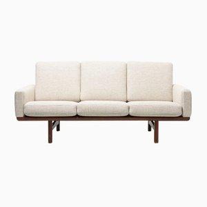 Vintage Modell GE 236/3 Teak 3-Sitzer Sofa von Hans J. Wegner für Getama