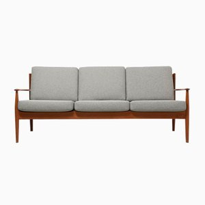 Vintage 3-Seater Teak Sofa by Grete Jalk for France & Søn