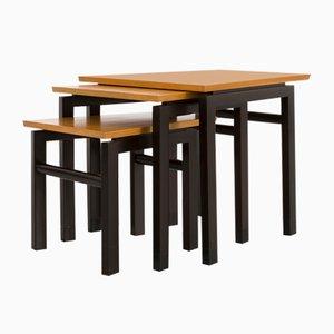 Tavolini a incastro di Edward Wormley per Dunbar, anni '50