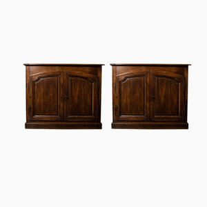 French Farmhouse Cabinets, 1900s, Set of 2