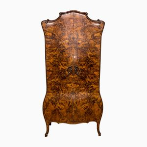 Antique Italian Burr Walnut Wardrobe, 1890s