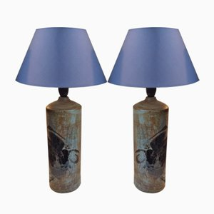 Danish Modern Stoneware Table Lamps by Conny Walther, 1970s, Set of 2