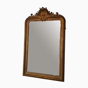 Antique French Crested Mirror, 1860s