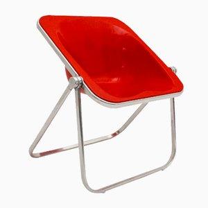 Roter Plona Klappstuhl von Giancarlo Piretti für Castelli, 1969