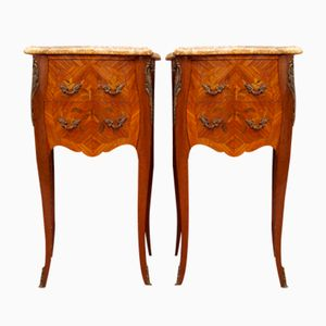 Mid-Century Bedside Tables, Set of 2