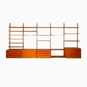 Libreria Royal System in teak di Poul Cadovius per Cado