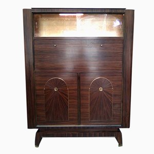 Vintage French Art Deco Macassar Ebony Cabinet