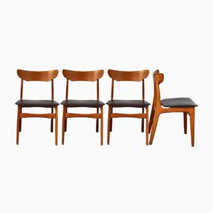 Mid-Century Esszimmerstühle von Schionning & Elgaard für Randers Møbelfabrik, 4er Set