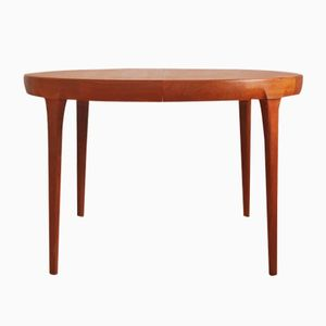 Round Danish Mid-Century Teak Dining Table by Ib Kofod Larsen for Faarup Møbelfabrik
