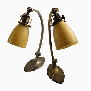 Art Nouveau Table Lamps, 1920s, Set of 2