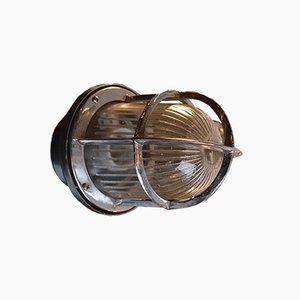 Lampada da parete vintage in vetro