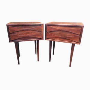 Tables de Chevet Vintage en Palissandre par Arne Vodder pour NC Mobler Odense, Set de 2