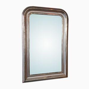 Antiker Spiegel mit Rahmen aus Vergoldetem Silber, 1880er
