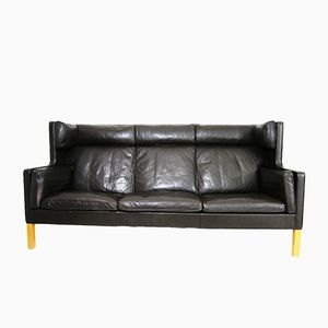 2193 Dark Brown Leather Sofa by Børge Mogensen for Fredericia, 1970s