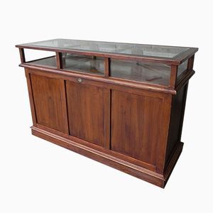 Vintage Oak Display Counter