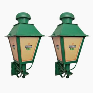 Facade Lantern Lamps from Heineken, 1960s, Set of 2