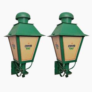 Lanterne da esterno di Heiniken, anni '60, set di 2