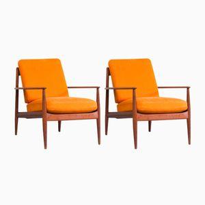 Dänische Vintage Teak Sessel von Grete Jalk für France & Søn, 2er Set