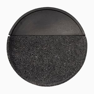Lava Volcanic Rock Round Tray by Caterina Moretti & Ana Saldaña for PECA
