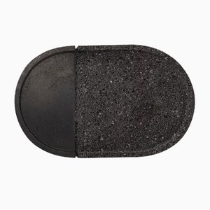 Lava Volcanic Rock Oval Tray by Caterina Moretti and Ana Saldaña for Peca
