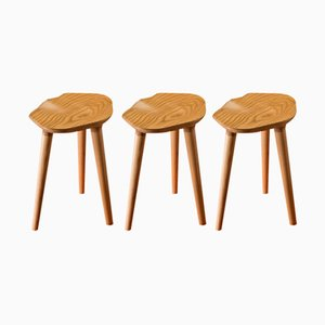 Tam Ash Stools by Caterina Moretti for PECA, 2017, Set of 3