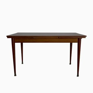 French Extendable Mahogany Dining Table, 1950s