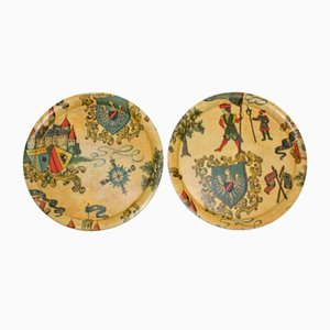 Round Shaped Serving Trays, 1960s, Set of 2