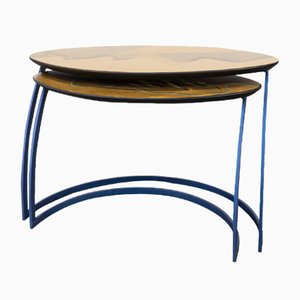 Vintage Side Tables by Carlo Malnati, Set of 2