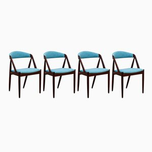 Mid-Century 31 Armchairs in Brazilian Rosewood by Kai Kristiansen for SVA Møbler, Set of 4