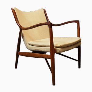 NV45 Armchair in Rosewood by Finn Juhl for Niels Vodder, 1940s