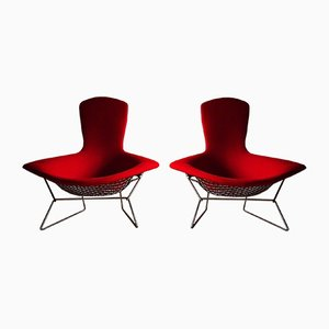 Vintage High Back Diamond Bird Chairs by Harry Bertoia for Knoll International, Set of 2