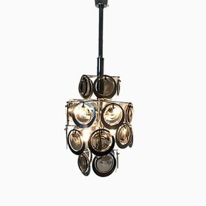 Vintage 8-Light Chandelier from Vistosi, 1970s
