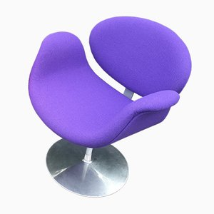 Small Purple Tulip Chair by Pierre Paulin for Artifort, 1970s