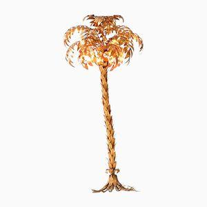 Goldene Deutsche Palmen Stehleuchte von Hans Kögl, 1970er