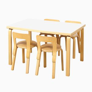 Modernist Dining Set by Alvar Aalto for Artek