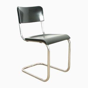 Vintage Bakelite Stuhl mit Rohrrahmen von René Herbst